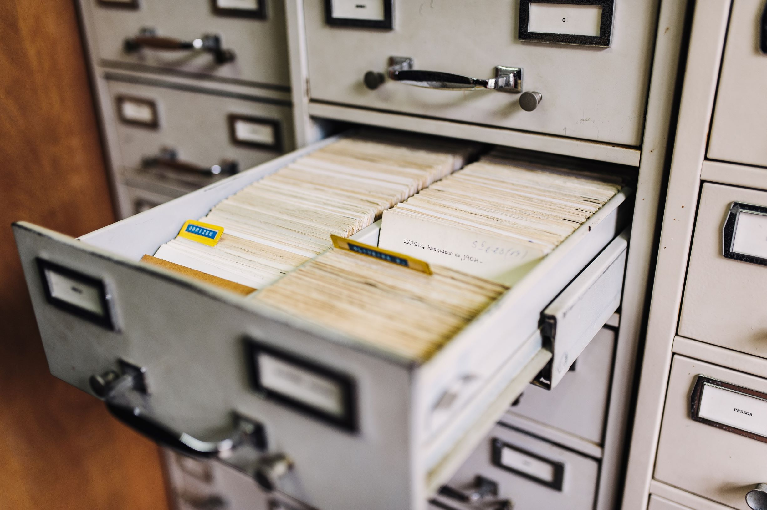 content filing represented by filing cabinet